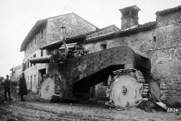 Итальянская гаубица Obice da 305/17. Таких гаубиц было выпущено менее 50 единиц.