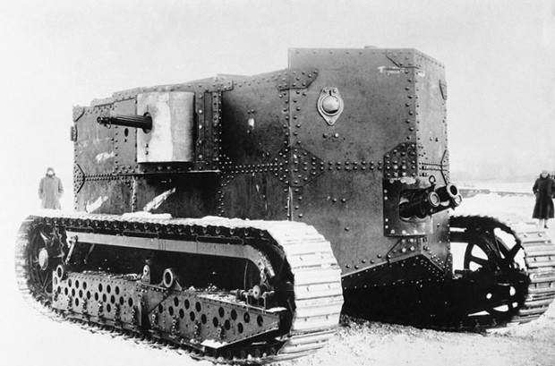 Первый американский танк Holt, 1917 год