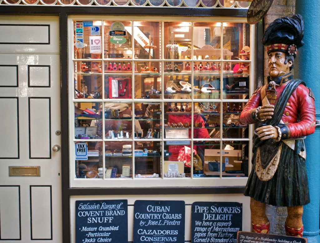 Tobacconist in Covent Garden