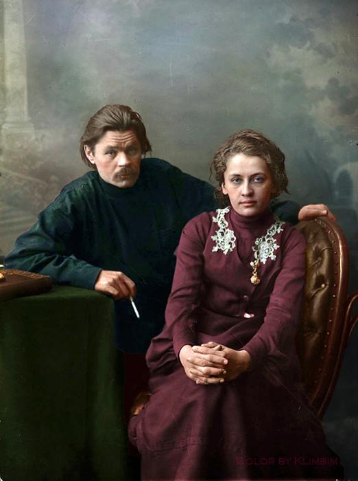 Максим Горький с супругой
